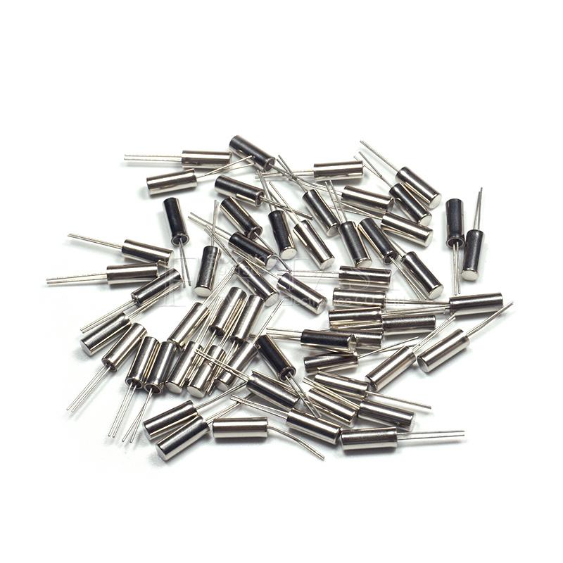 20pcs 2*6 32.768KHz Error 20ppm 32.768K 12.5pF Cylinder quartz resonator
