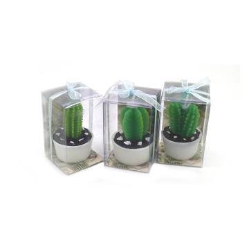 Handmade cactus shaped decorative candles