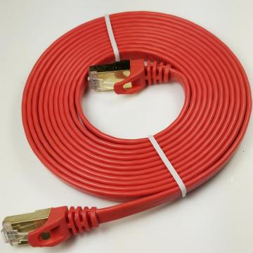 High Speed Shielded Durable Flat Internet Cable Cat7