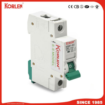 DZ47 TYPE Mini circuit breaker silver contact 6KA