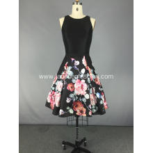 Sleeveless Patchwork Vintage Cocktail Dress