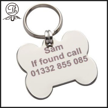 Personalized Bone shape metal key chain