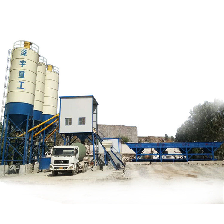 HZS35 precast ready mixed small concrete batching plant