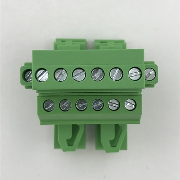 din rail mounted with flange pluggable terminal block