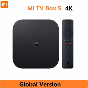 Xiaomi Mi TV Box S Global Version 4K HDR Android TV Streaming Media Player and Google Assistant Remote Smart TV MiBox S