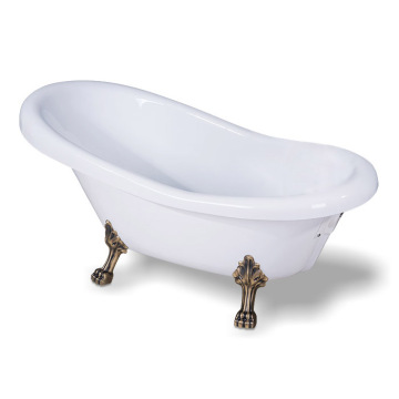 Vintage Acrylic Clawfoot Tub in White