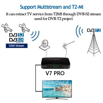 GTMEDIA V7 Pro Satellite TV Receiver DVB-S2/T2 TV decoder CA Card Support YouTube spain Portugal PK Freesat V7 plus tv box