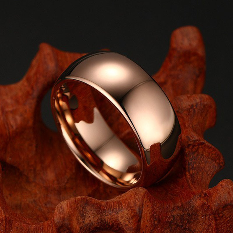 Rose Gold Tungsten Carbide Ring
