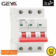 GEYA GYM8 3P MCB 6A 10A 16A 20A 25A 32A 40A 50A 63A 220V Mini Circuit Breaker Din Rail C Curve with CE CB SEMKO Certificate