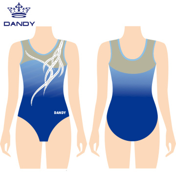 Girls competitive sleeveless leotards