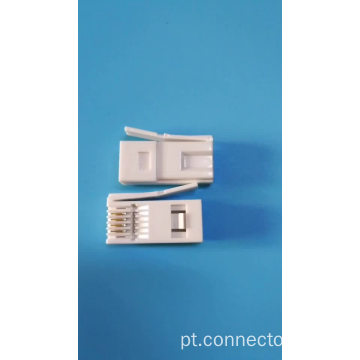 Conector do plugue RJ11 do plugue 6p6c