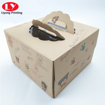 Corrugated Brown Double open cake box