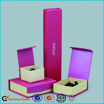 Fancy Pink Jewelry Packaging Gift Box