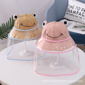 Brown Frog Anti-droplet Hat for Children