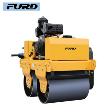 Hand Push Double Drum Mini Road Roller for Sale