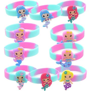 Mermaid Silicone Wristband Bracelets for Kids Adults