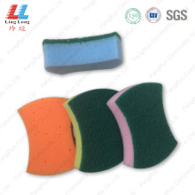 Smooth kitchen scouring sponge cleaning