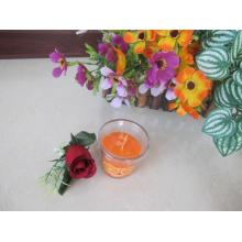 Orange Scented Glass Candle with Plastic Lid