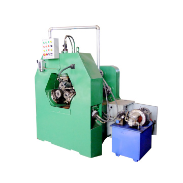 Hollow pipe thread rolling machine