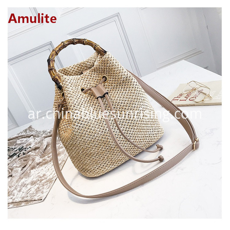 Bucket straw bag