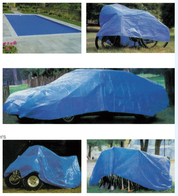 High quality PE tarp usage