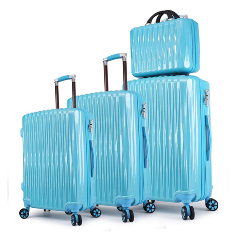 Blue luggage sets