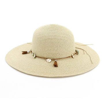 Custom decoration outing paper straw hat wholesale