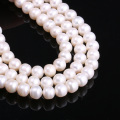 Natural Fresh Water Pearl Potato Shaped White For Making Necklace Bracelet Earnails 8-9mm