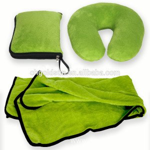 Function Green Airline Comfort Travel Blanket Kits