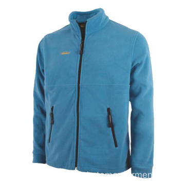 Hellblaue Fleecejacke