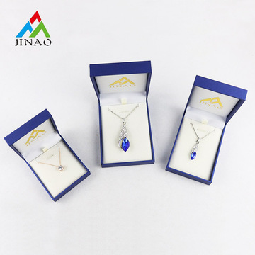 Blue Paper Plastic Jewelry Box for Necklace