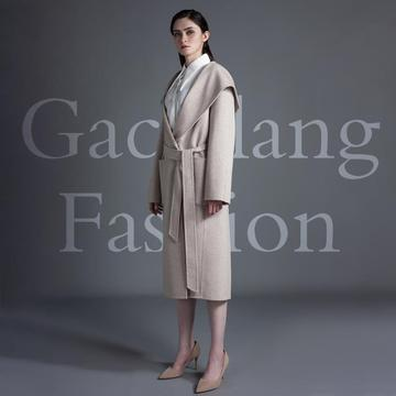 Rice white double sided cashmere overcoat
