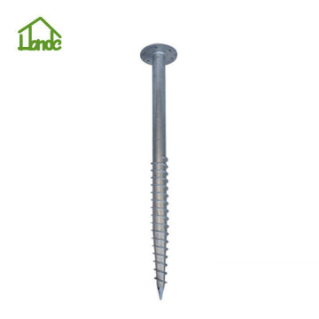 Galvanized flag poles ground anchor