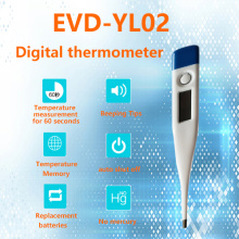 Electronic thermometers with low power consumption