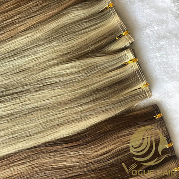 How to make flat weft hair extensions