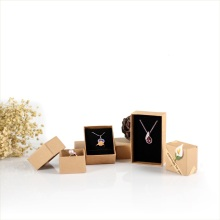 Brown craft paper jewelry box set