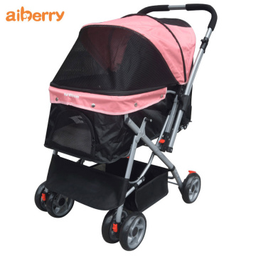2020 Colorful Folding Double Pets Strollers Trolley