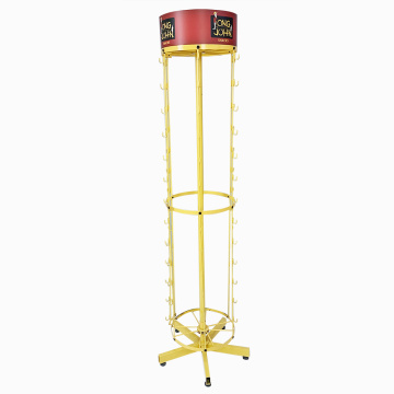APEX Yellow Candy Metal Retail Store Display Rack