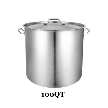 100QT Stainless Steel Stockpot for Restaurant Cooking