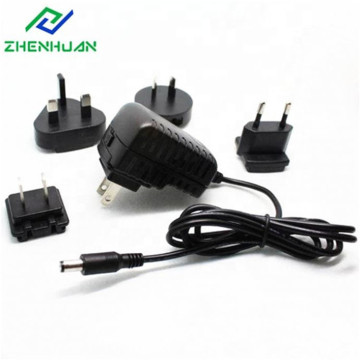 9V / 1A / 9W Multi AC Plug-adapter for global