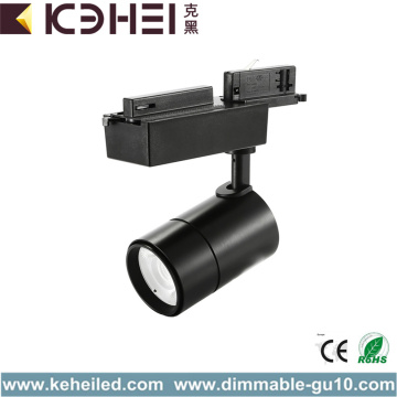 25W LED Black Track Lights Single Phase AC110V