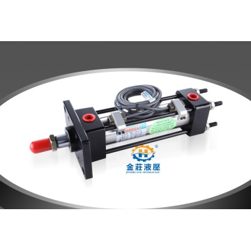 Tie rod hydraulic cylinder for die casting machine