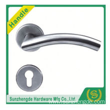 SZD STH-108 Round Bar Handles 2 Pairs Of Lever Latch Door Handle On Rose In 50Mm