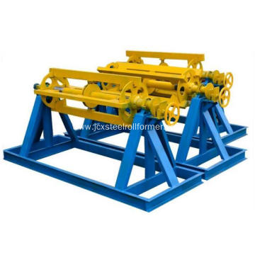 Material decoiler for roll forming machine