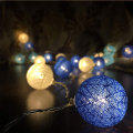 Battery Colored Cotton Balls Light For Christmas