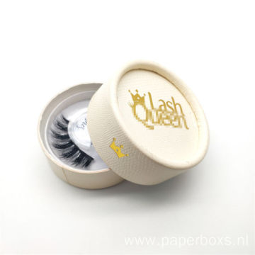 Luxury White Round Eyelash Cosmetic Packaging Paper Box