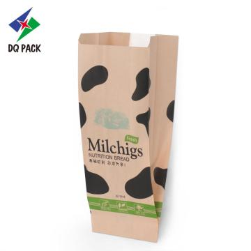 Pillow bag for baked bread kraft paper pouch