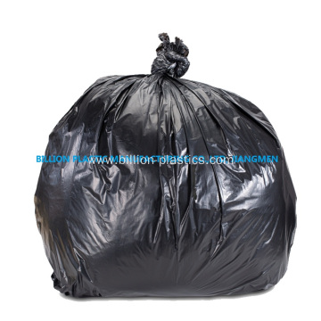 Black Poly Rubbish Bag