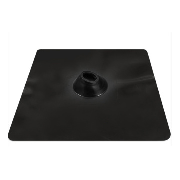 Black EPDM roof penetration flashing for vent pipe