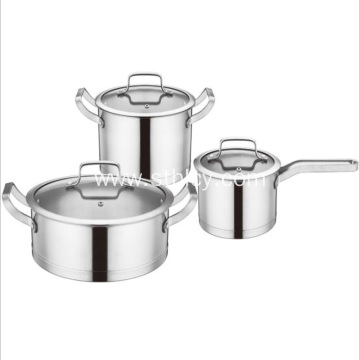 High-grade Stainless Steel Set Pot Kitchen Three-piece